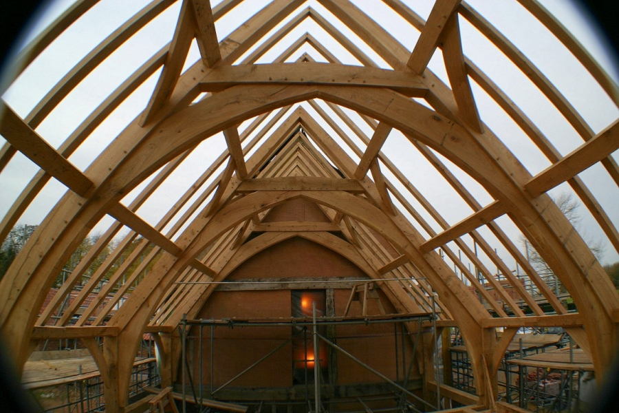 Arch Brace Frame Chaplin Oak Timber Framing