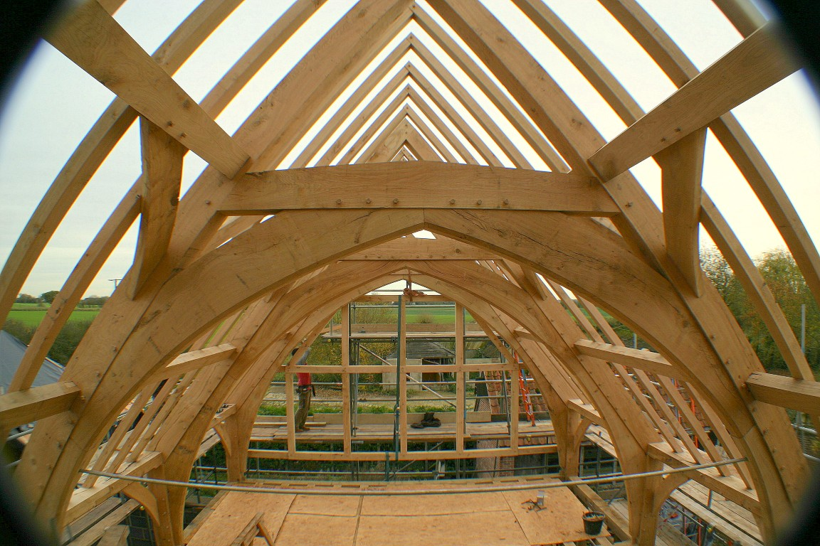 Arch Brace frame | Chaplin Oak timber framing