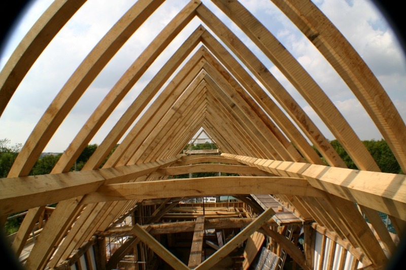 New Green Oak Barn Roof Chaplin Oak Timber Framing