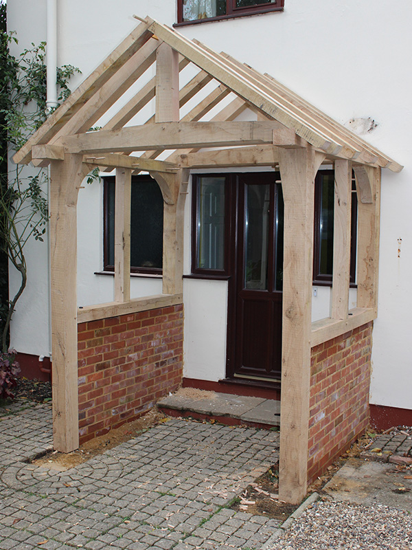 Oak Framed Porch Chaplin Oak Timber Framing