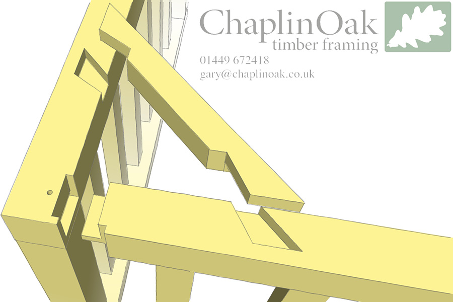 Another Local Frame Chaplin Oak Timber Framing