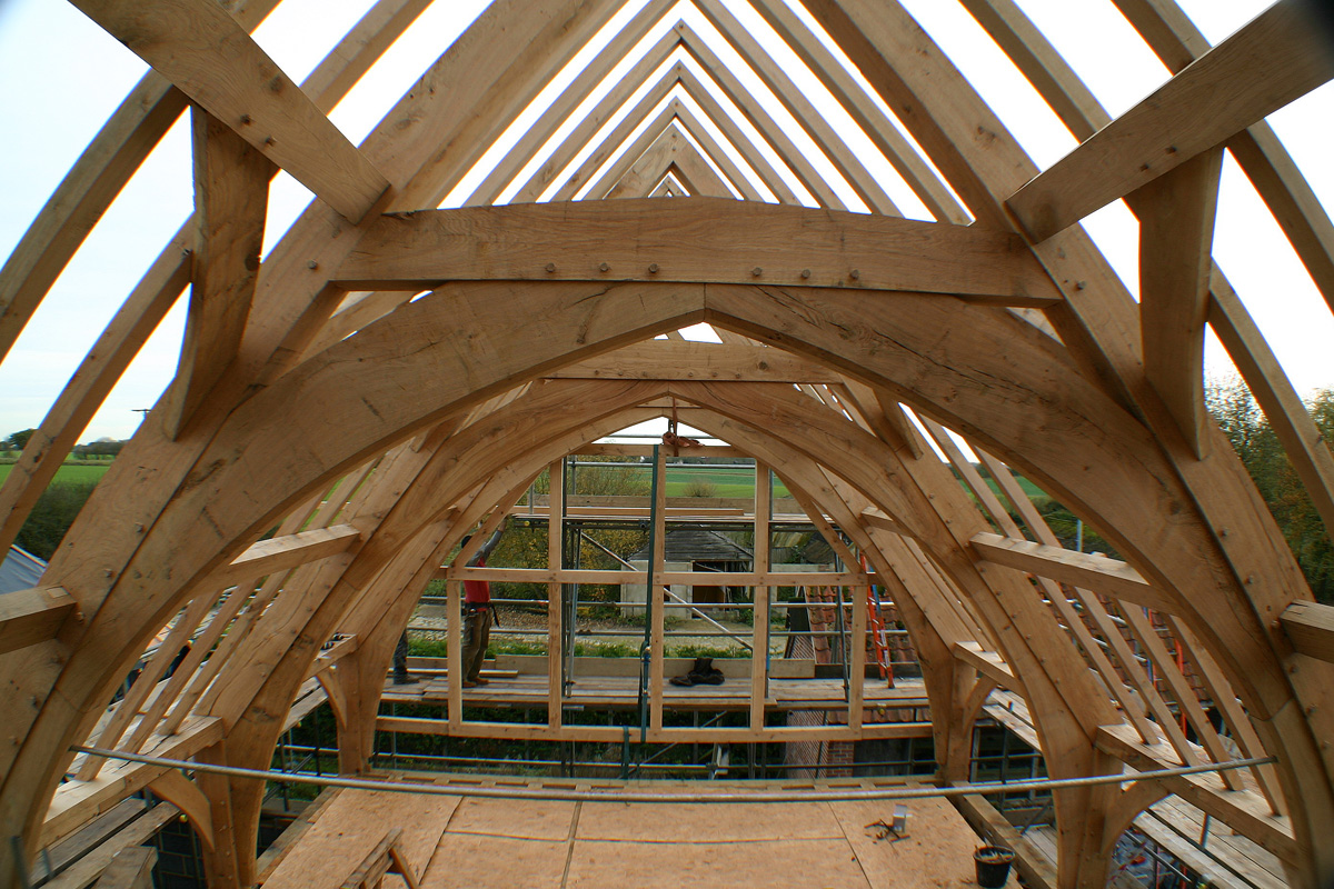 Arch Brace Frame Complete Chaplin Oak Timber Framing