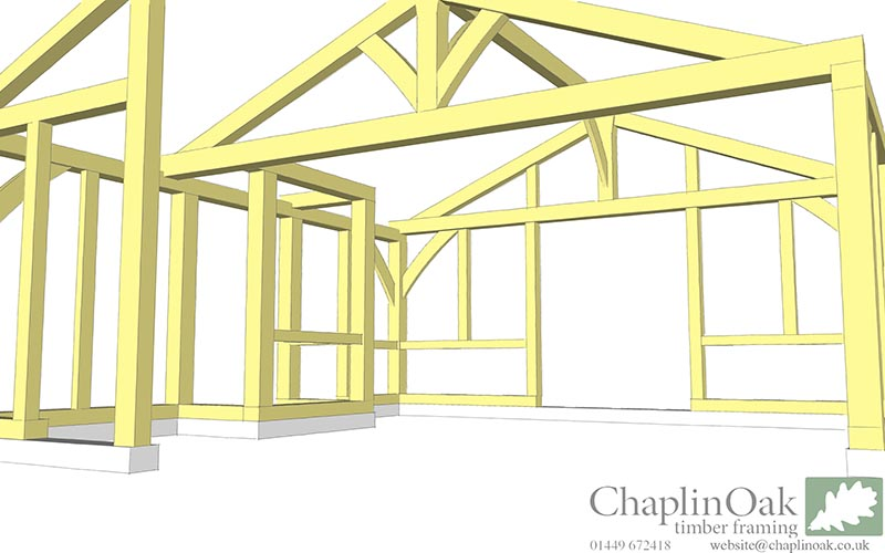Large conservatory to listed building. | Chaplin Oak timber framing