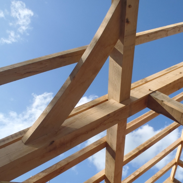 King Post Roof Frame Chaplin Oak Timber Framing