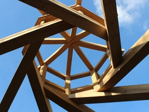 Reciprocal Roof Chaplin Oak Timber Framing